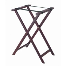 Aarco Products TS-3 Folding Wood Tray Stand - Dark Stain