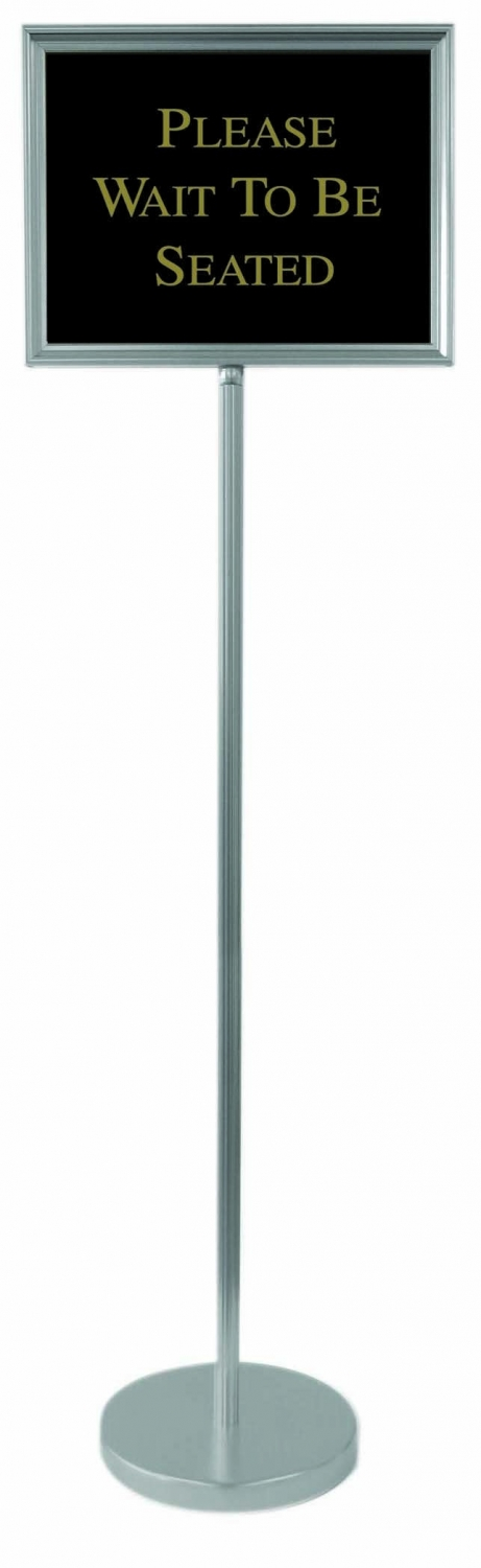 Aarco Products TY-2CH Director Sign Stand Silver 54""