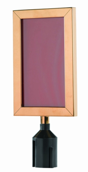 "Aarco Products VSF118B Form-A-Line Sign Frame in Brass, 11 1/8""H x 8 5/8""W"