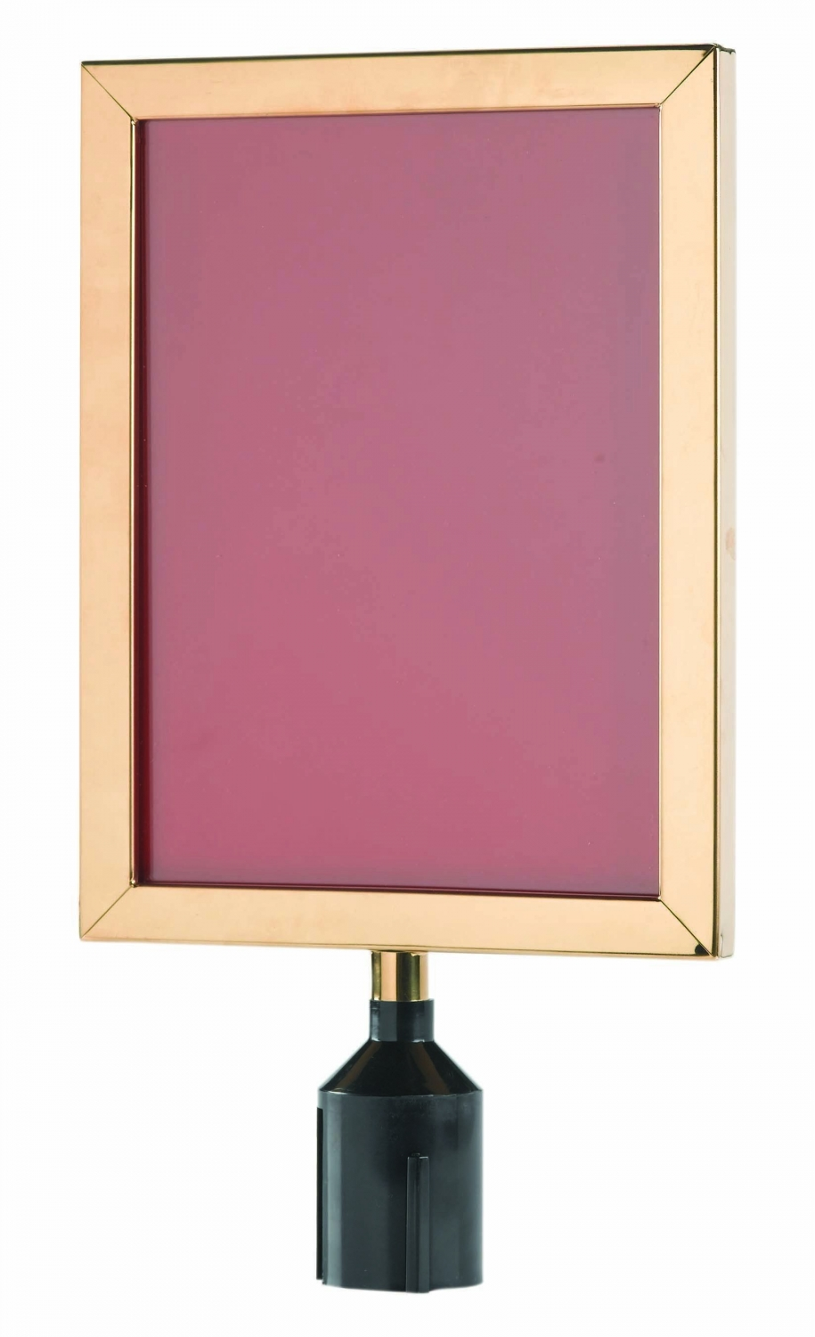 """Aarco Products VSF1411B Form-A-Line Sign Frame in Brass, 14 1/8""""H x 11 1/8""""W"""
