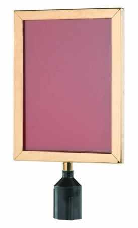 "Aarco Products VSF1411B Form-A-Line Sign Frame in Brass, 14 1/8""H x 11 1/8""W"
