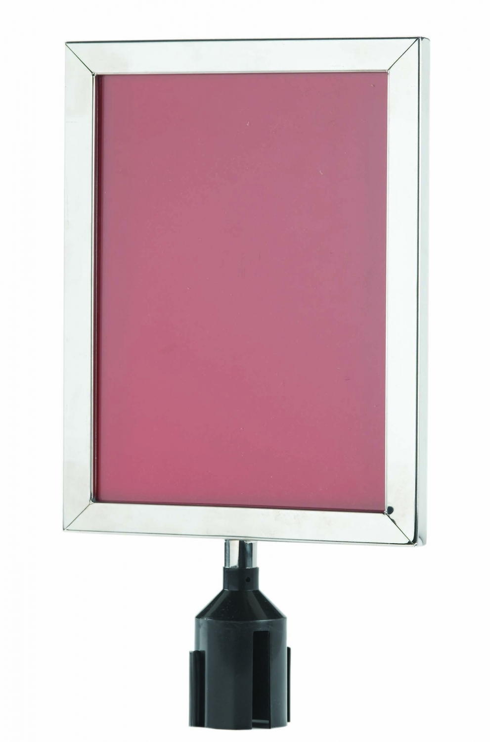 "Aarco Products VSF1411C Form-A-Line Sign Frame in Chrome, 14 1/8""H x 11 1/8""W"