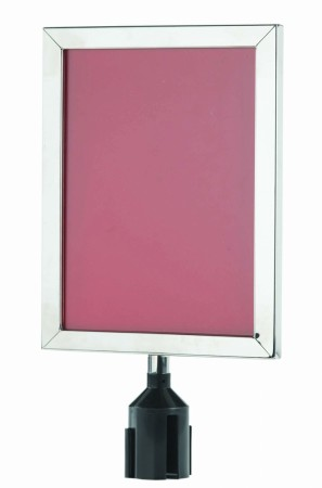 """Aarco Products VSF1411C Form-A-Line Sign Frame in Chrome, 14 1/8""""H x 11 1/8""""W"""