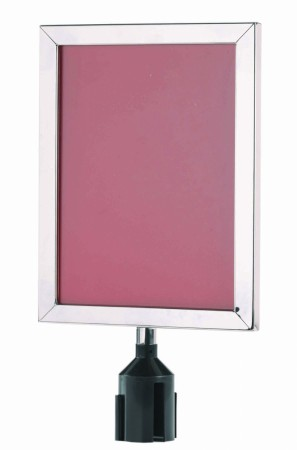 "Aarco Products VSF1411S Form-A-Line Sign Frame in Satin, 14 1/8""H x 11 1/8""W"