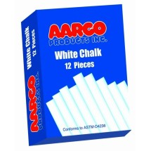 Aarco Products WCS-144 White Chalk - 144 Boxes of 12 Pieces