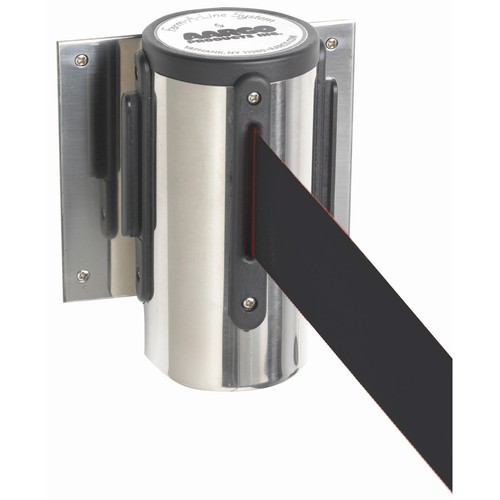 Aarco Products WM-7C Form-A-Line System Wall Mounted Retractable Belt - Chrome Finish Casing