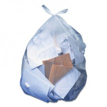 Accufit Low-Density Can Liners, 32 gal, 0.9 mil, 33 x 44, Clear, 100/Carton