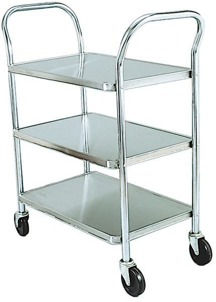 Adcraft 1624-3 Stainless Steel Utility Cart