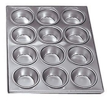 "Adcraft AMP-12 Aluminum 12 Cup Muffin Pan 14"" x 12"""