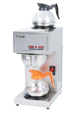 Adcraft CBS-2 Pour-Over Coffee Brewer with 2 Warmers