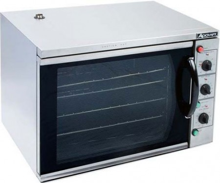 Adcraft COH-3100WPRO Countertop Stainless Steel Half Size Convection Oven