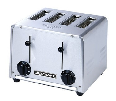 Adcraft CT 04 2200W Commercial 4 Slot Pop Up Toaster
