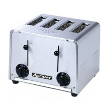 Adcraft CT-04/2200W Commercial 4-Slot Pop-Up Toaster