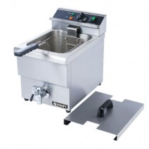 Adcraft DF-12L Commercial Countertop Single Tank Deep Fryer, 208V, 6L