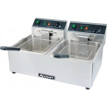 Adcraft DF-6L / 2 Commercial Countertop Double Tank Deep Fryer, 120V