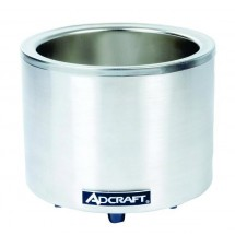 Adcraft FW-1200WR Countertop Round Food Warmer / Cooker , 7 - 11 Quart