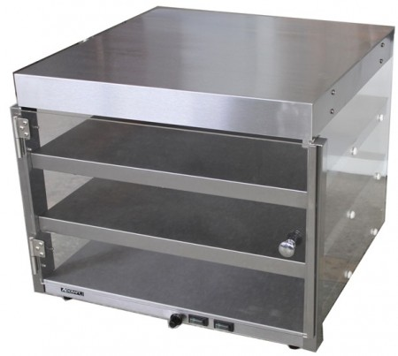 "Adcraft PW-16 Countertop Pizza Merchandiser with 3-Pizza Capacity, 19"" x 19"" x 20.5"