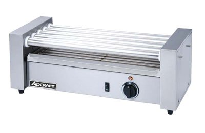 Adcraft RG-05 Commercial Countertop Hot Dog Roller Grill, 5 Rollers