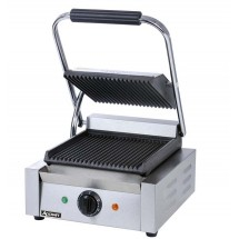 Adcraft SG-811 Commercial Sandwich Grill Press with Grooved Surface