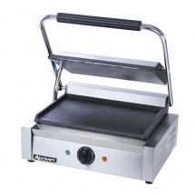 Adcraft SG-811E / F Commercial Panini Sandwich Grill with Flat Plates