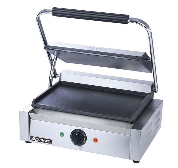 Adcraft SG-811E/F Commercial Panini Sandwich Grill with Flat Plates