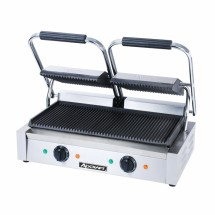 Adcraft-SG-813-Double-Countertop-Sandwich-Grill-with-Grooved-Plates