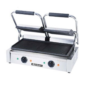 Adcraft SG-813 Grooved Double Sandwich Grill