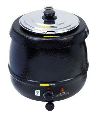 Adcraft SK-600 Countertop Electric Black Economy Soup Kettle, 11 Qt.