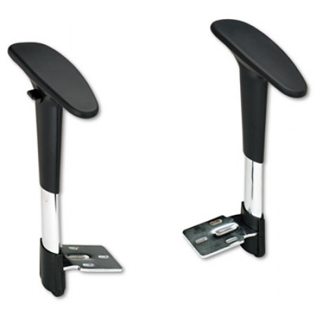 Safco Adjustable T-Pad Arms for Metro Extended-Height Chairs, Black/Chrome