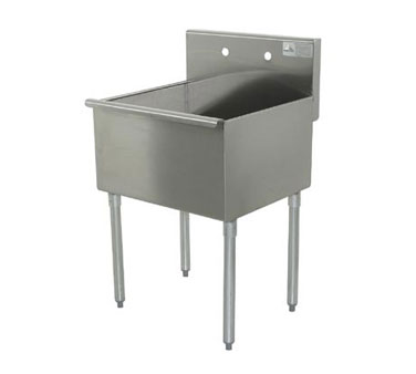 "Advance Tabco 4-41-24 Square Corner Kitchen Sink, 24"" x 24"" x 14"" Bowl"