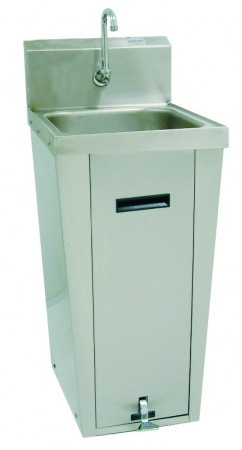 "Advance Tabco 7-PS-18 Hands Free Hand Sink with Pedestal Base, 14"" x 16"""