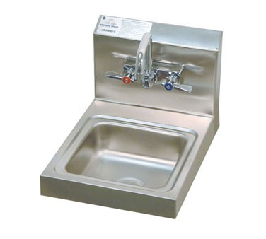 Advance Tabco 7-PS-23 Space Saver Wall Mounted Hand Sink with Splash Mounted Faucet