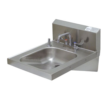 "Advance Tabco 7-PS-25 A.D.A. Compliant Wall Mounted Hand Sink, 14"" x 16"""