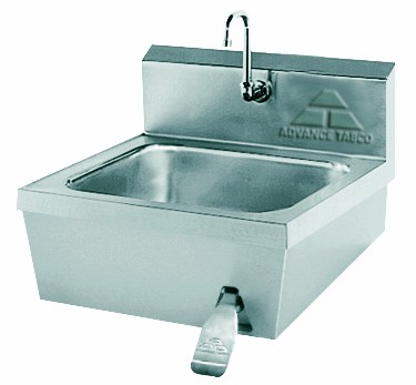 "Advance Tabco 7-PS-30 Wall Mounted Hand Sink with Knee Valve, 14"" x 16"""
