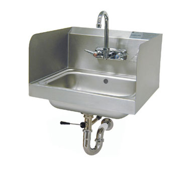 Advance Tabco 7-PS-40 Wall-Mounted Hand Sink with Side Splashes