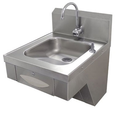 Advance Tabco 7-PS-41 A.D.A. Compliant Wall Mounted Hand Sink with Electronic Faucet, Basket Drain