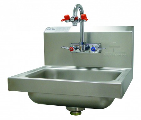 Advance Tabco 7-PS-55 Wall Mounted Hand Sink with Eye Wash Attachment