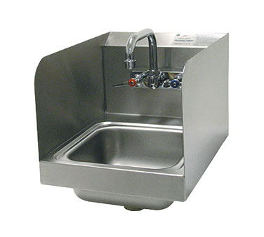 Advance Tabco 7-PS-56 Space Saver Wall Mount Hand Sink With Side Splashes