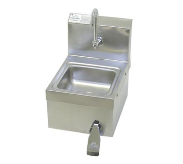Advance Tabco 7-PS-63 Space Saver Wall Mounted Hand Sink With Knee Operated Valve