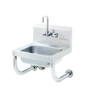 Advance Tabco 7-PS-64 Wall Mounted Hand Sink with Tubular Supports