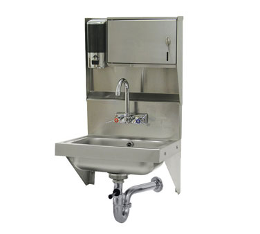 Advance Tabco 7-PS-69 Wall Mounted Hand Sink with Soap and Towel Dispenser