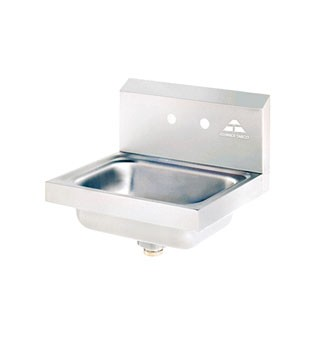 Advance Tabco 7-PS-70 Wall Mounted Hand Sink with Two Splash Faucet Holes