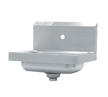 Advance Tabco 7-PS-71 Wall Mounted Hand Sink with Single Splash Faucet Hole