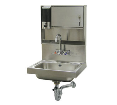 Advance Tabco 7-PS-80 Wall Mounted Hand Sink with Soap and Towel Dispenser