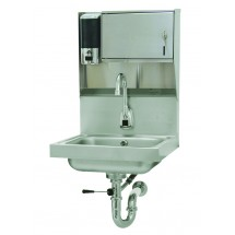 Advance Tabco 7-PS-81 Wall Mount Hand Sink with Electric Faucet, Soap and Towel Dispenser
