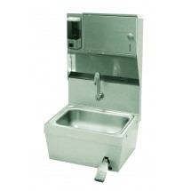 Advance Tabco 7-PS-82 Hands Free Hand Sink with Knee Valve, Soap and Towel Dispenser