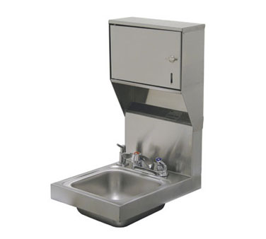 Advance Tabco 7-PS-83 Space Saver Wall Mounted Hand Sink with Soap and Towel Dispenser