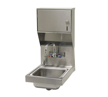 Advance Tabco 7-PS-84 Space Saver Wall Mounted Hand Sink with Soap and Towel Dispenser