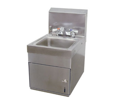 Advance Tabco 7-PS-88 Space Saver Wall Mounted Hand Sink With Undermount Towel Dispenser