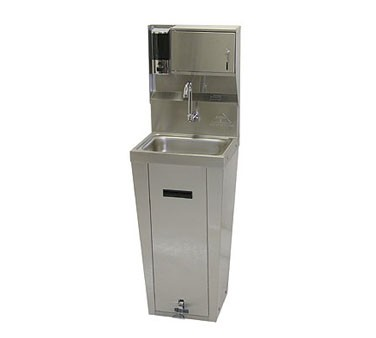 Advance Tabco 7-PS-95 Hands Free Hand Sink with Pedestal Base, Soap and Paper Towel Dispenser